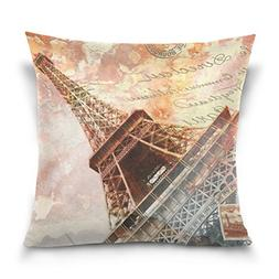 Double Sided Eiffel Tower Paris Abstract Digital Art Cotton