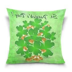 ALAZA Double Sided Happy St. Patrick's Day Green Shamrock an
