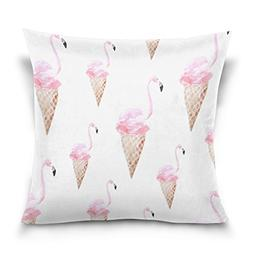 Double Sided Ice Cream Funny Flamingo Cartoon Cotton Velvet