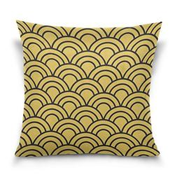 ALAZA Double Sided Stripes and Wave Seamless Pattern Cotton