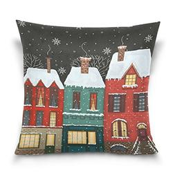 Double Sided Winter Street Snowflakes Merry Christmas Cotton