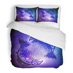 SanChic Duvet Cover Set Alaska Native Fish American Drawing