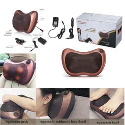 Electric Lumbar Neck Back Massage Pillow Cushion Shiatsu Mas