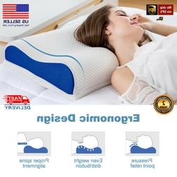 Ergonomic Memory Foam Bed Pillow Orthopedic Cervical Contour