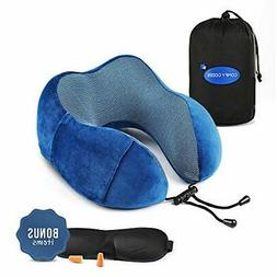 ergonomic travel neck pillow set flight kit