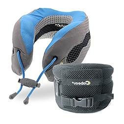 Cabeau Evolution Cool Travel Pillow Glacier Blue Memory Foam