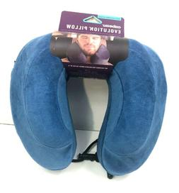 evolution memory foam travel pillow blue nwt