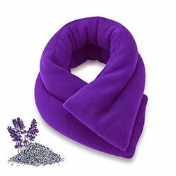 Sunny Bay Extra Long Neck Heating Wrap, Lavender Scented, Pu
