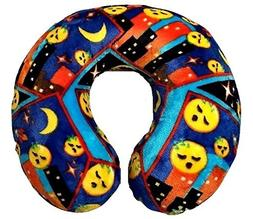 Emoji Faces Round Velvet Memory Foam U Shaped Travel Pillow