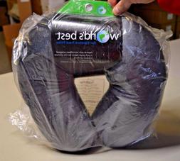 World's Best Feather Soft Microfiber Neck Pillow, Charcoal