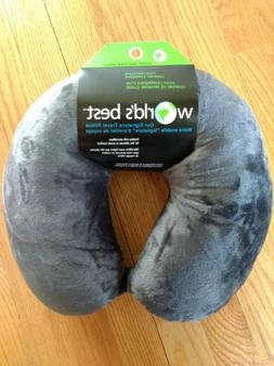 Worlds Best Feather Soft Microfiber Neck Pillow ~ Charcoal G