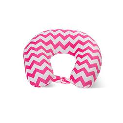 World's Best Feather Soft Microfiber Neck Pillow, Pink Chevr