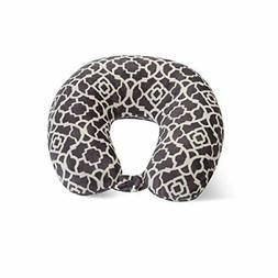 World's Best Feather Soft Microfiber Neck Pillow, Charcoal T