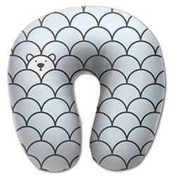 Find The Bear Travel Pillow U Shaped Pillow Memory Foam Wash