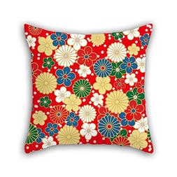 18 X 18 Inches / 45 By 45 Cm Flower Throw Cushion Covers Bot