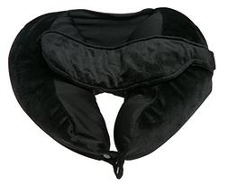 Deluxe Comfort Fly Right Travel Pillow with Bulit-in Eye mas