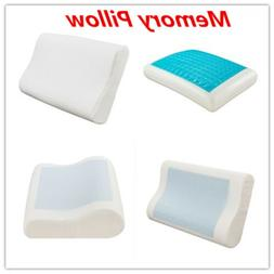 Gel Contour Memory Pillow For Neck Pain Orthopedic Contoured