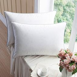 WENERSI Premium Goose down Pillows with Feather Blended, 100