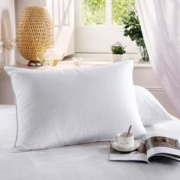Goose Down Pillows 500 Thread Count Firm Neck Support Pillow