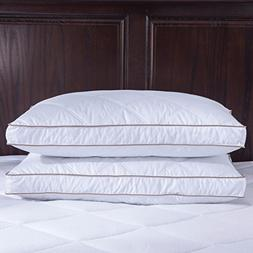 puredown Natural Goose Down Feather Pillows for Sleeping Dow