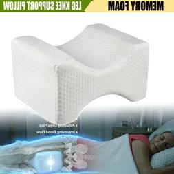 New Memory Foam Cushion Bed Neck Leg Knee Pillow Support Wit