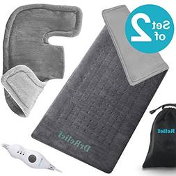 Heating Pad Gift Set of 2 – Shoulder & Neck Heating Pad an