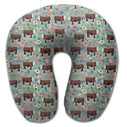 hereford cow cattle floral u