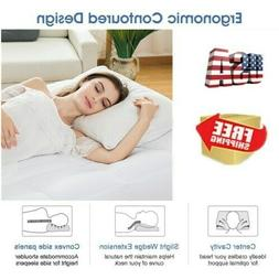 High Memory Foam Bed Pillow Therapeutic Cervical Neck Ergono