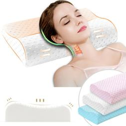 Hot US Memory Foam Pillows Neck Massage Relaxation Travel Su