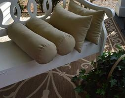 Set of 4 Indoor / Outdoor Decorative Bolster / Neckroll and