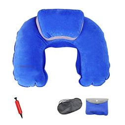 Outdoor-Indoor Inflatable Travel-Office Neck Pillow Travel S