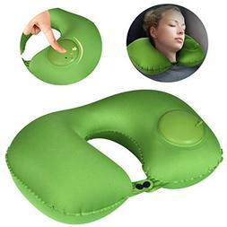Inflatable and Adjustable Neck Pillow Perfect for Travel