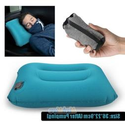 inflatable air travel pillow airplane neck head