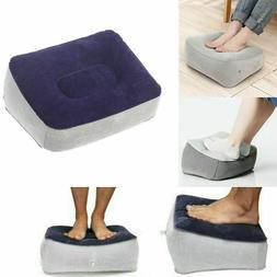 Inflatable Foot Rest Pillow Cushion Office Travel Car Relax