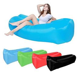 SanTORMAS Inflatable Lounger, Portable Air Hammock With Trav