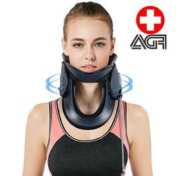 P PURNEAT Inflatable Medical Neck Cervical Traction Device P