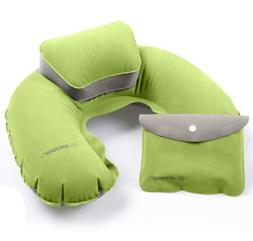 Inflatable Neck Flight Pillow Travel Airplane Pillow for Bet