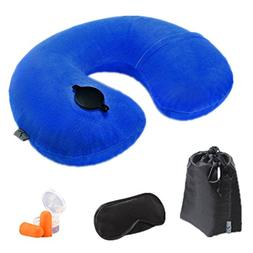 inflatable neck pillow airplane cervical