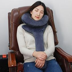 Inflatable Travel Pillow, Travel Neck Pillow for Men Women P