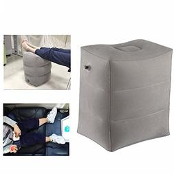 AirGoods Inflatable Travel Pillow for Foot Rest on Airplanes