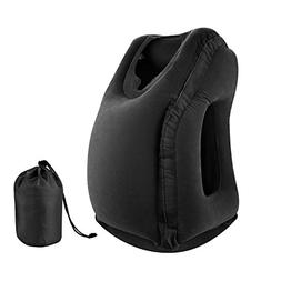 simptech Inflatable Travel Pillow, Ergonomic and Portable He