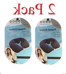 wennow 2 x Inflatable Travel Pillow Neck U Shaped Rest Air F