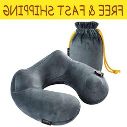 Inflatable Travel Pillow Compact Pillows For Airplanes Soft