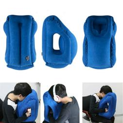 Inflatable Travel Pillow Office Air Cushion Sleeping Neck Pi