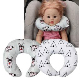 Kids Neck Pillow Cushion Support Car Plane Travel Soft Cotto