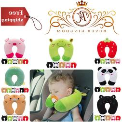 Kids Travel Pillow W/ Neck And Chin Support Cotton Material