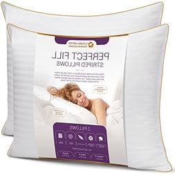 King Size Bed Pillows for Sleeping - 20x36, 2-Pack - Mid Lof