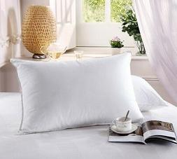 King Size White Goose Down Pillow Soft Density Neck Support
