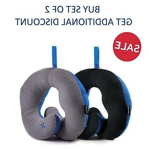 2 Supporting Travel Neck Pillow- Supports Chin