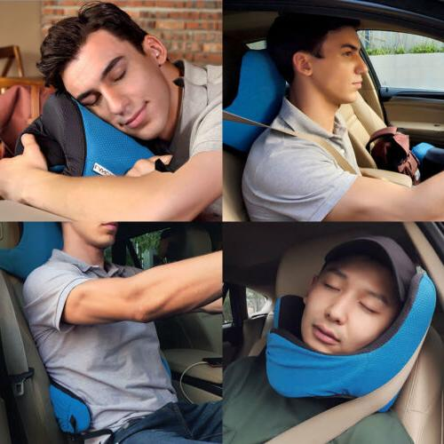 LANGRIA 6-in-1 Astronaut Memory Foam Travel Pillow Adjustabl